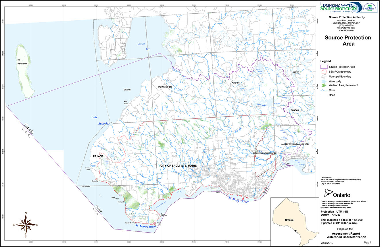 Map Of Sault Ste Marie And Surrounding Area Maps   Sault Ste. Marie Region Conservation Authority (SSMRCA)